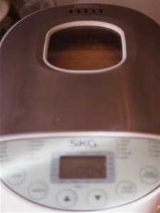 SKG bread maker 4 minutes to go!